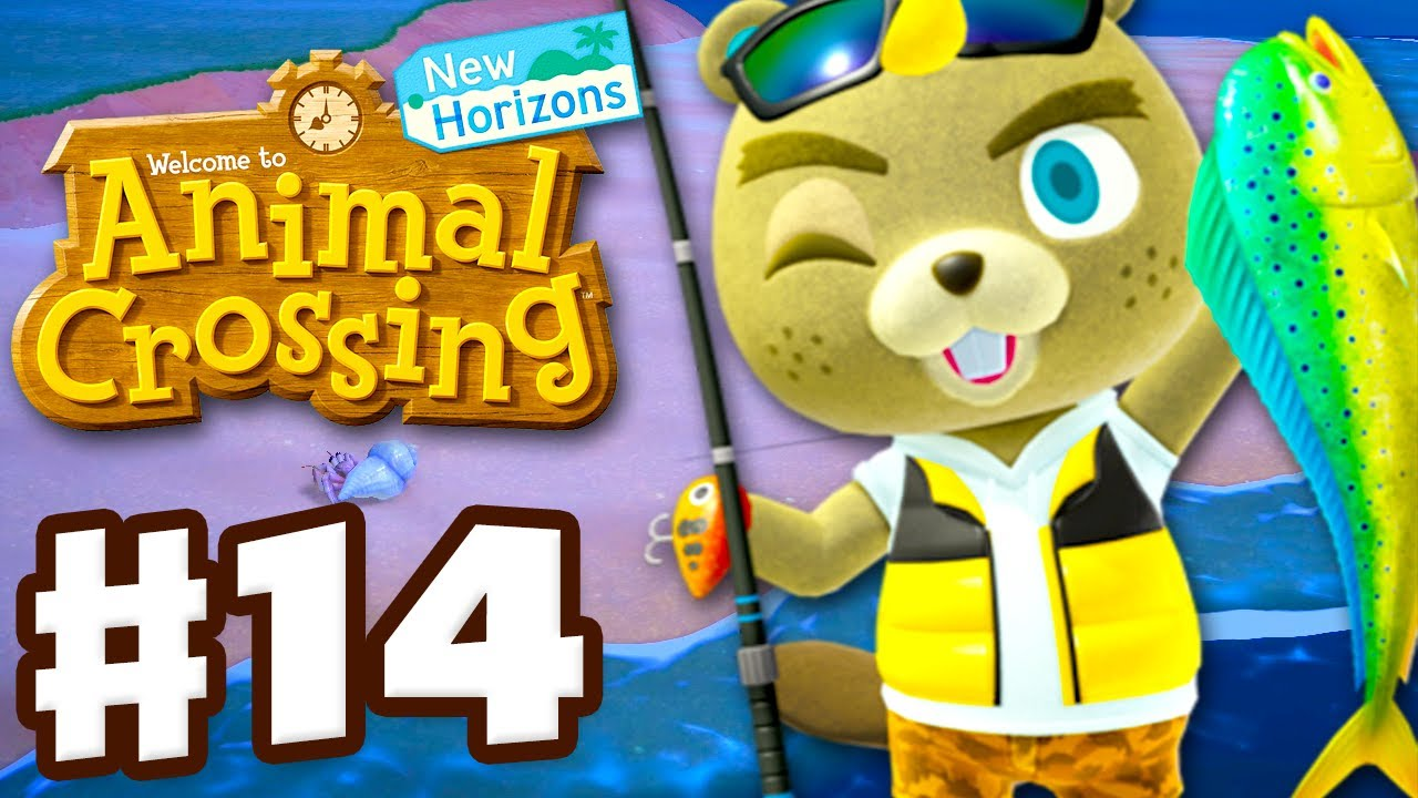 C.J.'s Fishing Challenge! - Animal Crossing: New Horizons - Gameplay Walkthrough Part 14