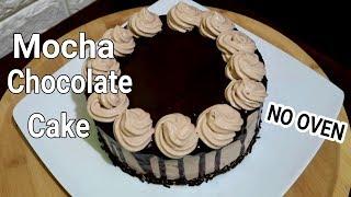 No Oven Mocha Chocolate Cake  Chocolate Mocha Cake Recipe