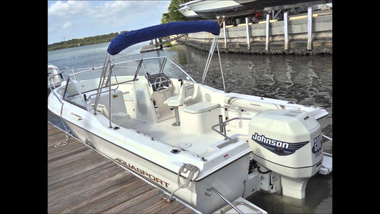 Sea Hunt Escape 250 >> AquaSport 215 - www.WideWorldBoats.com - YouTube