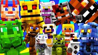 FNAF World - FULL MOVIE! (Minecraft Roleplay) Night 1-10