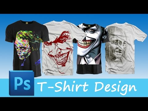 86.[Ps] T-Shirt Designing - Photoshop Tutorial [In Hindi]