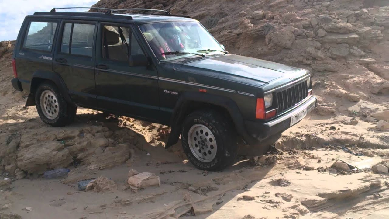 1992 jeep cherokee on the rock! - youtube