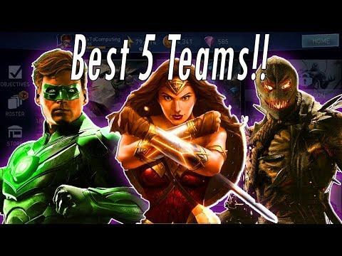 Top 5 BEST TEAMS!! How To Build Best Teams! Best Characters / Heroes Injustice 2 Mobile