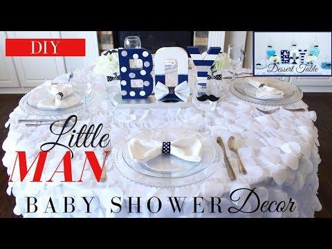 Little Man Baby Shower Decoration Ideas | DIY Boy Baby Shower Centerpiece