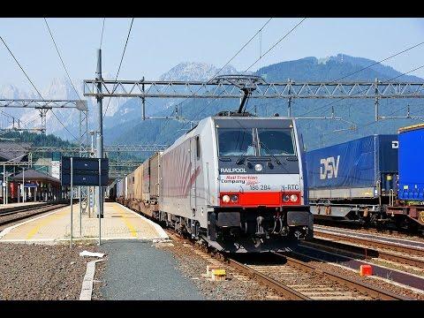 Komplette Führerstandsmitfahrt Baureihe 186 auf Tauernbahn von Salzburg Hbf bis Tarvisio Boscoverde