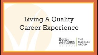 Living A Quality Career Experience