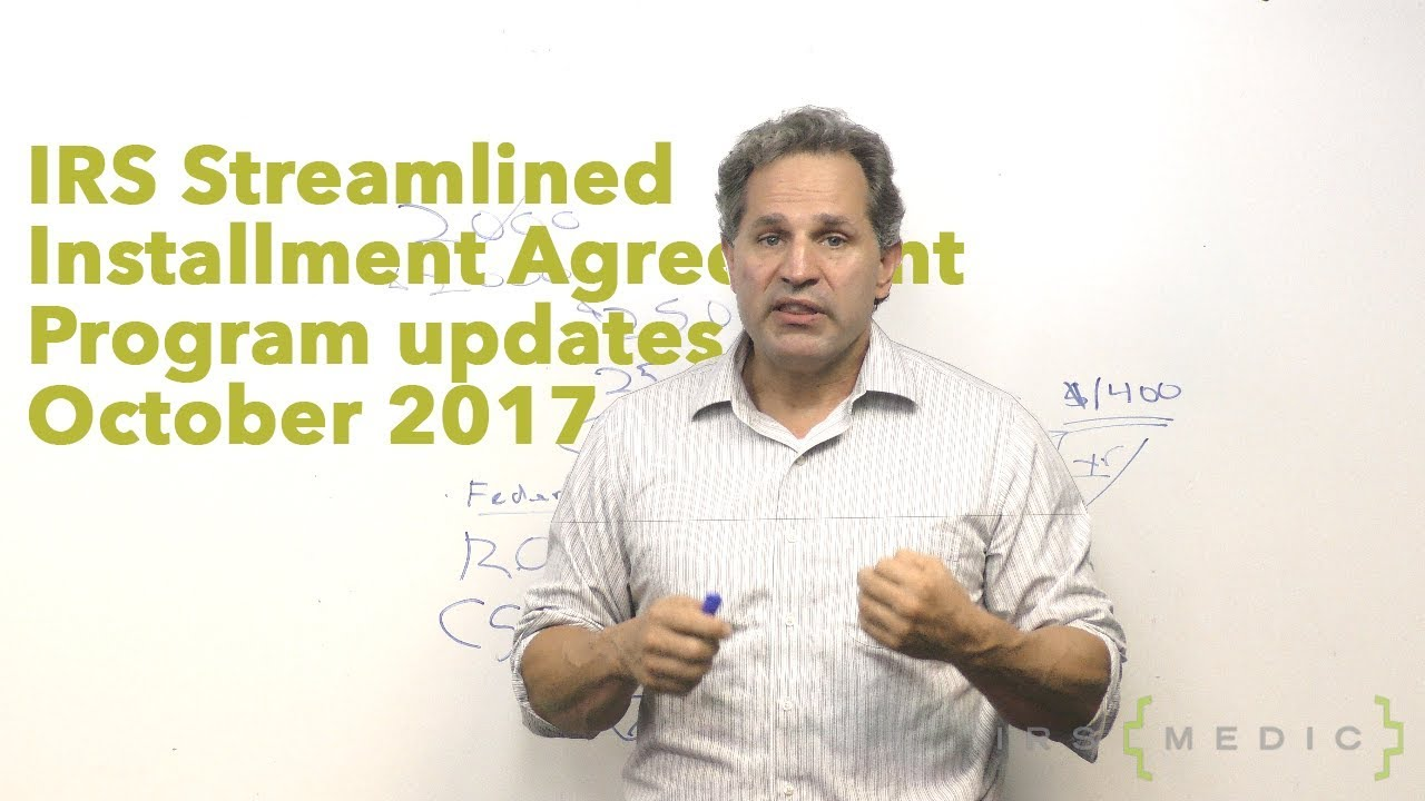 Pros Cons Of Irs Streamlined Installment Agreements Youtube