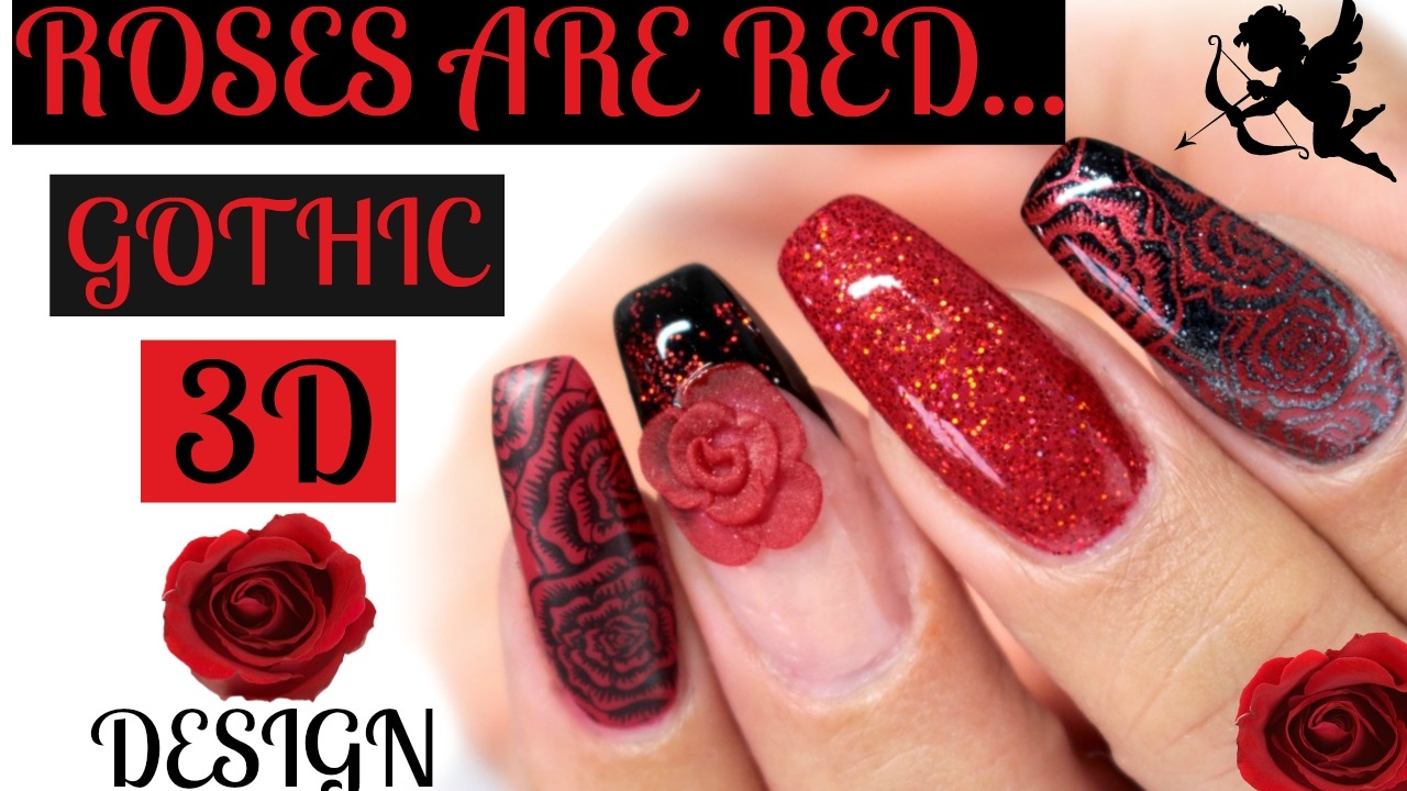 Gothic Inspired Acrylic Red Rose Tutorial Dixie Plates You