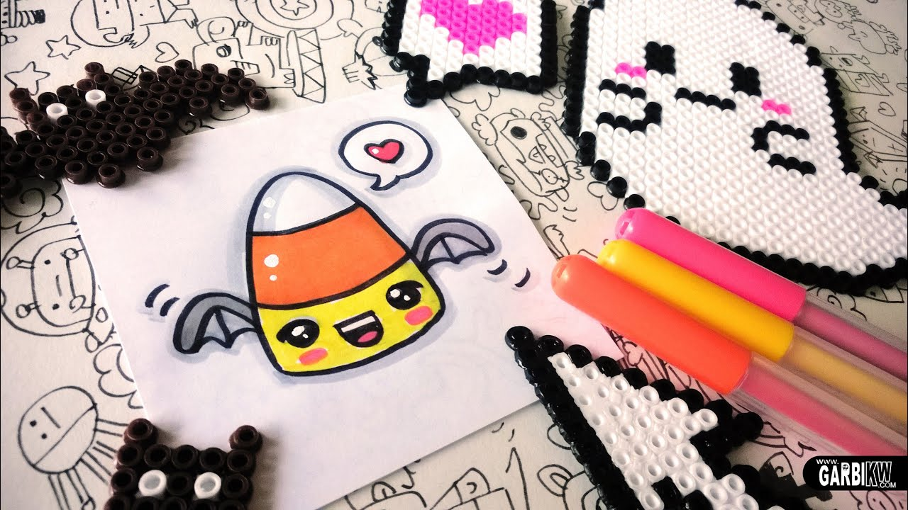 halloween drawings how to draw candy corn by garbi kw youtube - Drawings Of Halloween Pictures