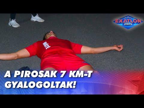 A pirosak 7 km-t gyalogoltak!