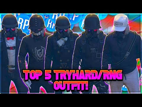 GTA 5 ONLINE *TOP 5 TRYHARD/RNG OUTFIT!* EASY TO MAKE 1.39(MODDED OUTFIT!)
