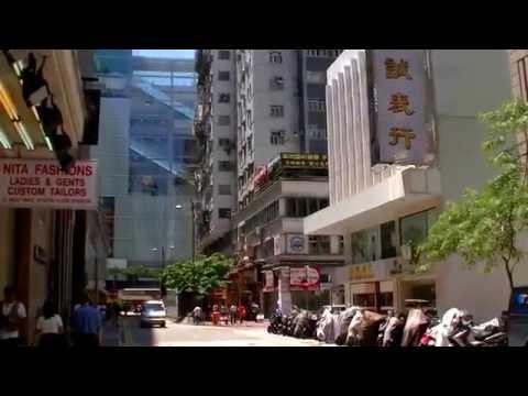 2017-香港自由行-九龍xi-憙、holiday-inn金域假日酒店步行往尖沙咀港鐵站沿途實景