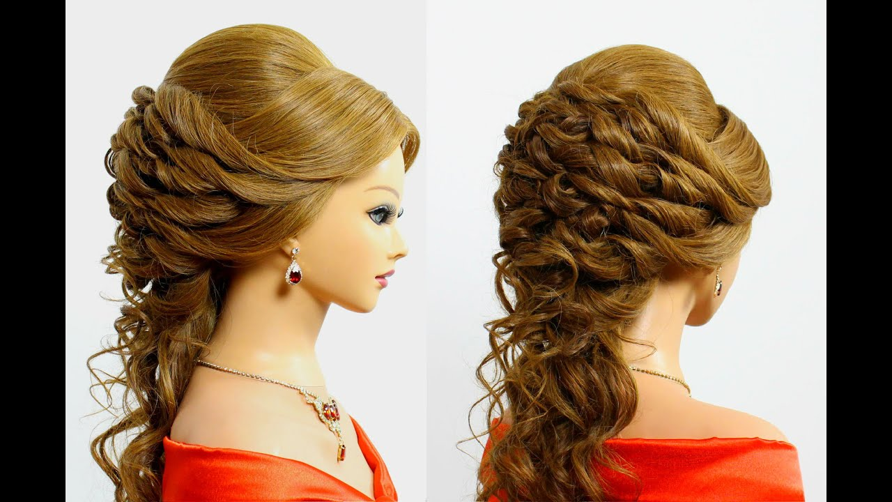beautiful prom & wedding hairstyle for long hair tutorial - youtube