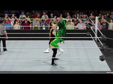 WWE 2K17 She-Hulk vs. Ms. Marvel - Bearhug Ironman Match