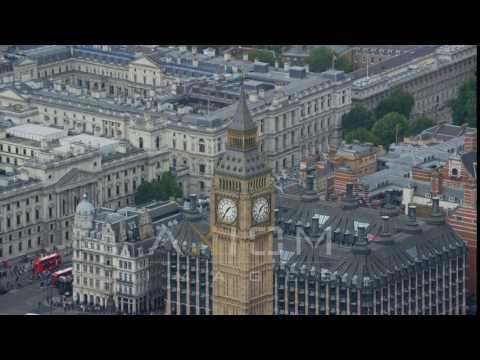 Big Ben Revealing HM Treasury, London England Aerial Stock Footage | AX114 227 4K Youtube