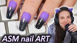 ASMR Nail Art (holo tingles)