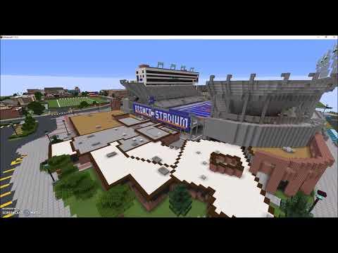 Boise State University Campus Minecraft Build Progress ( w/ Albertsons Stadium)