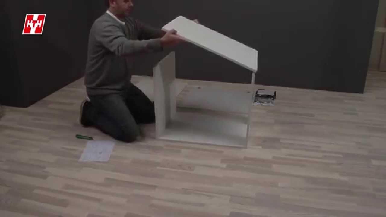 Så monteras ett underskåp   HTH Kök - YouTube