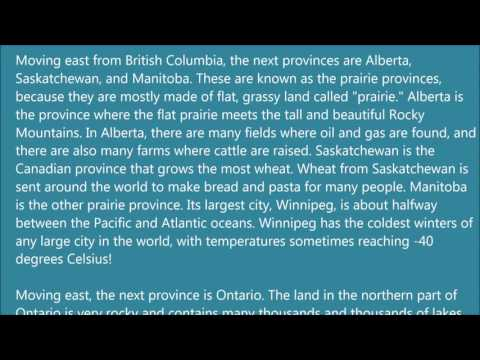 Learn English via Listening Level 3   Lesson 4   Canada   Provinces and Territories