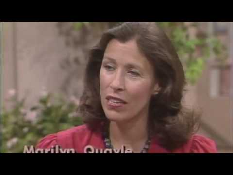Marilyn Quayle responds to criticism and finding normalcy.