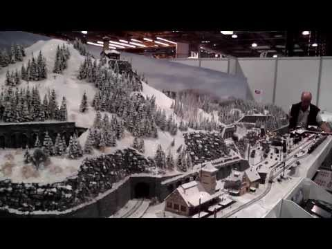 winter scenery model railway