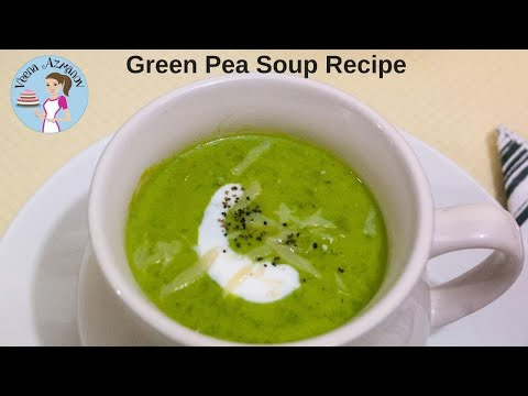 Sweet Pea Soup | Frozen Pea Soup | Green Peas Soup