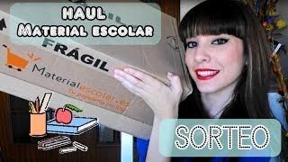 UNBOXING: Haul material escolar + SORTEO!