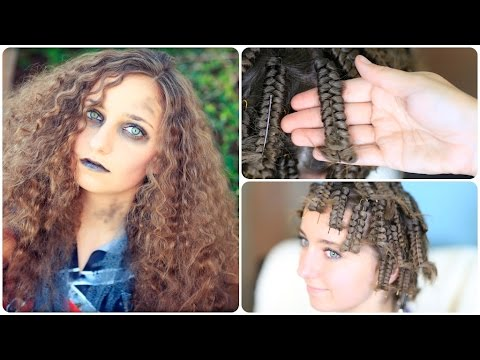 Zombie Cheerleader Hair Pin Curls Halloween Hairstyles
