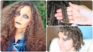 Zombie Cheerleader | Hair Pin Curls | Halloween Hairstyles