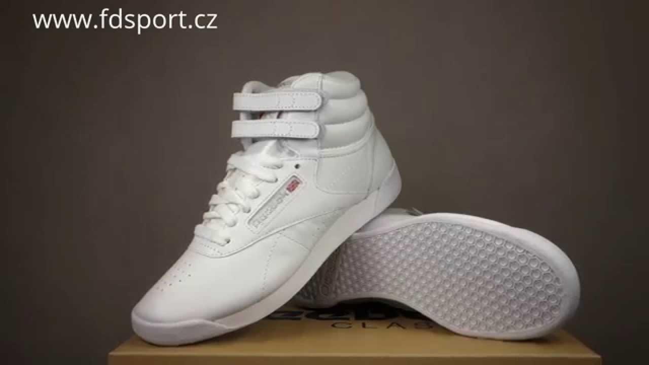 dd9c869e944 Reebok Freestyle Hi Dámské boty 2431 - YouTube