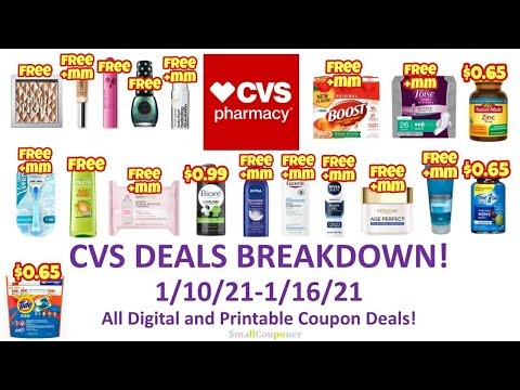CVS Deals Breakdown 1/10/21-1/16/21! All Digital and Printable Coupon Deals!