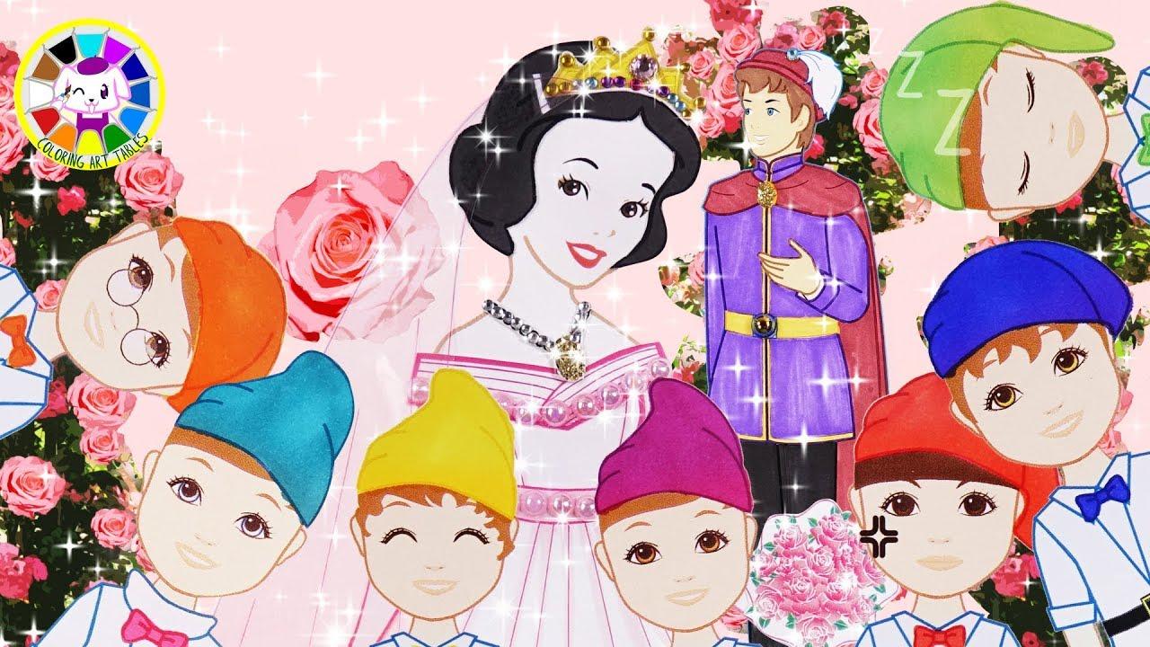Wedding Disney Princess Snow White Bride Groom Paper Doll Craft
