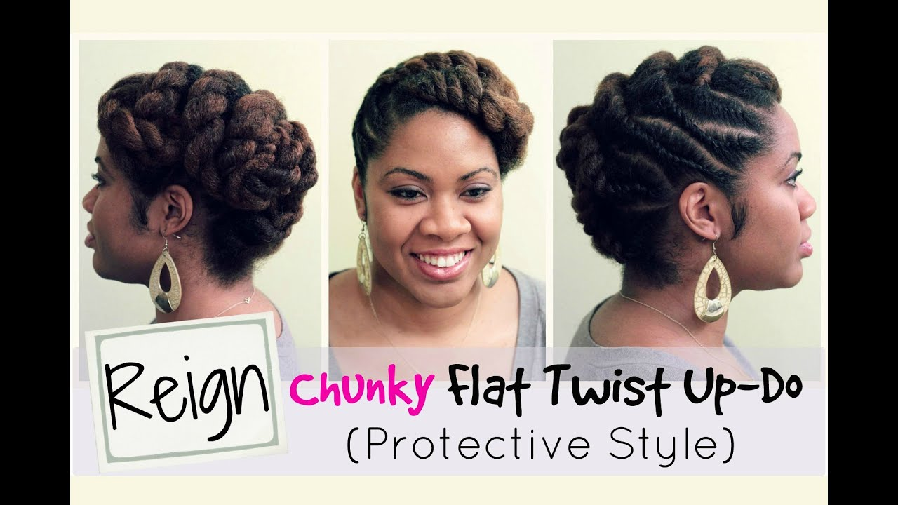 R Reign Protective Style And Flat Twist Updo On Natural Hair