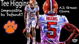 Clemson X&O's: A.J. Green clone Tee Higgins UNGUARDABLE!!!