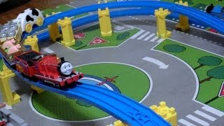 Repeat youtube video プラレール ジェームスと 牧場貨車セット Plarail Thomas and Friens James Pasture set