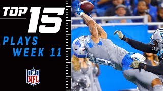 Top 15 Plays of Week 11 | NFL 2018 Highlights