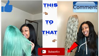 How To Remove Semi Permanent Dye From 613 Bundles  CHEAP AND EASY  NO HARSH PRODUCTS!!! 🤭😳
