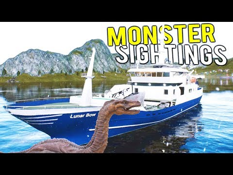 FISHING BOAT SPOTS THE LOCH NESS MONSTER?! Deadliest Catch Simulator - Fishing: Barents Sea