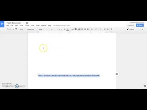 #TechTipTuesday - Creating a Bookmark in a Google Doc