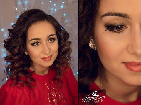 Прическа и макияж Создание образа Beauty съемка Кольцевой свет