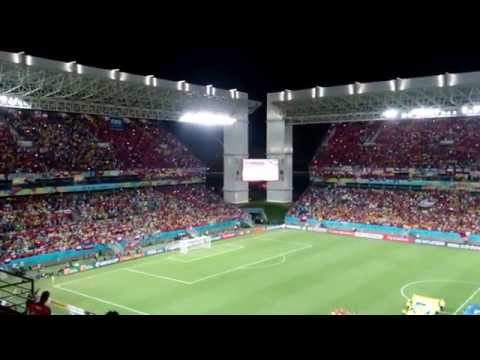 Chile national anthem v Australia (Brazil 2014)