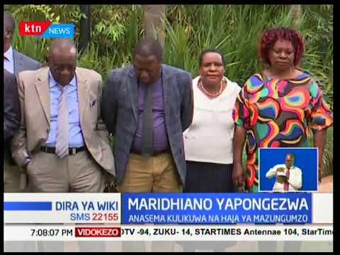 Miangwi ya urafiki mpya kati ya Raila Odinga na Rais Uhuru Kenyatta inaendelea kuhisiwa