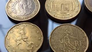 Rare Euro Coins Collection 1999 & 2002 Numismatics Macro Video Рідкісні монети