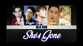 ZE:A FIVE (제국의 아이들) - She's Gone (Color coded lyrics) [Rom]