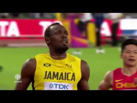 Finale 100m Usain Bolt Londres 2017