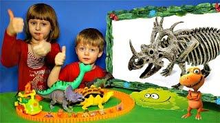 Детям про Динозавров Челлендж Угадай Скелет Динозавра #3 СПИНОЗАВР и др. Видео для Детей Lion boy