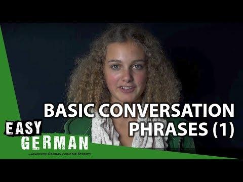 Easy German - Basic Conversation Phrases 1