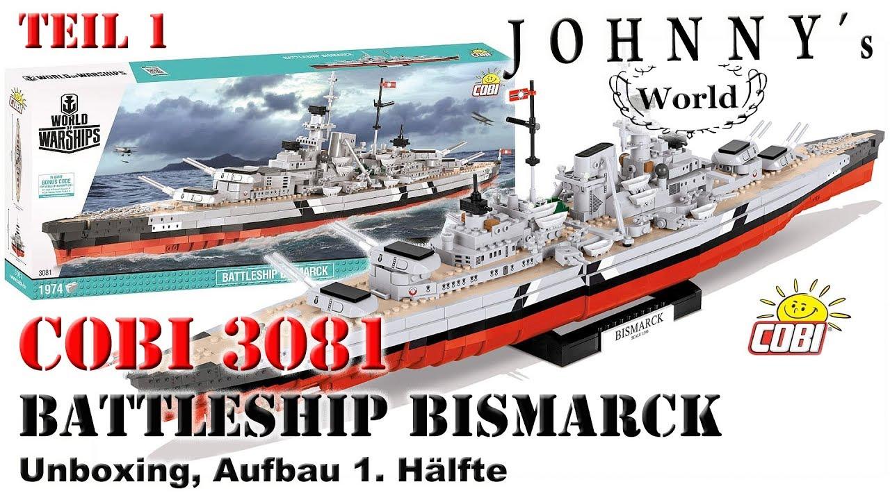 /'World of Warships/' COBI 3081-1,974 bricks Battleship Bismarck