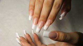 моделирование ногтей акрилом видео