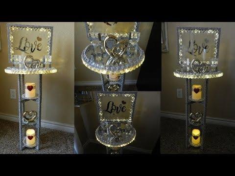 Dollar Tree DIY Glam Home Decor| DIY Glam Side Table using Dollar Tree Items